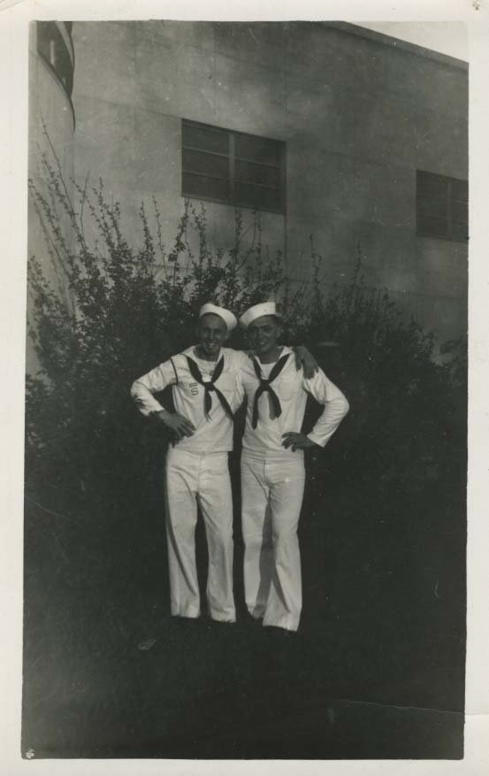 William Johnson Jr. served in WWII in the South Pacific. He went to school in Tupper Lake, NY. c. 1940 (P007266)